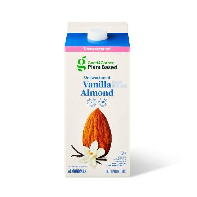 Unsweetened Vanilla Almond Milk - 0.5gal - Good & Gather™