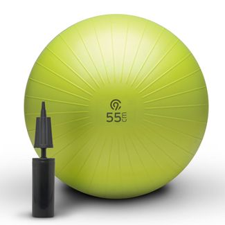 C9 Champion® Exercise Ball with Pump - Lime Green (55cm)