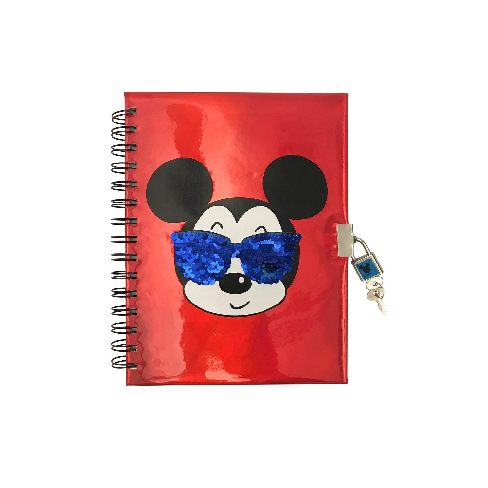 Lined Journal Disney Mickey Mouse with Lock & Key - Project Happy, Multi-Colored