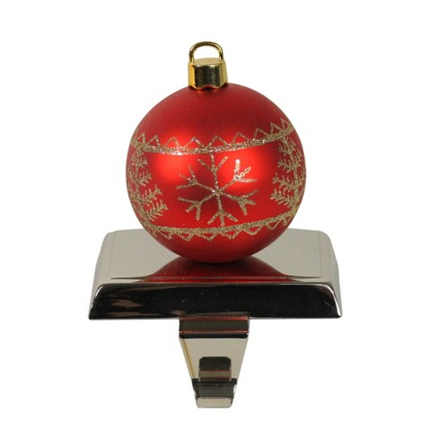 """MORE HOLIDAY 18/"""" CHRISTMAS STOCKING ORNAMENT RED GOLD"""