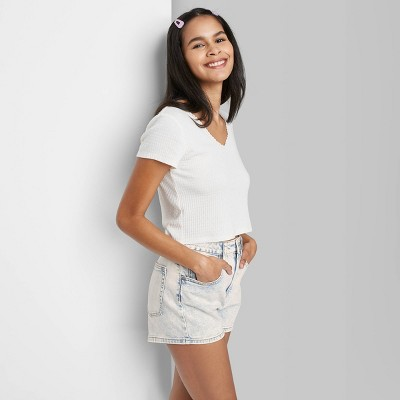 Women's High-Rise Mom Jean Shorts - Wild Fable™