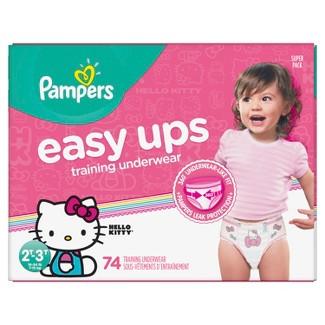 Pampers Easy Ups Girls Training Pants Super Pack - Size 2T-3T (74ct)