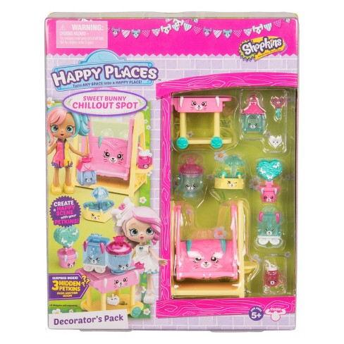 Happy Places™ Shopkins® Decorator Pack - Bunny Chillout Spot - image 1 of 5