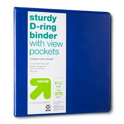 "1.5"" 3 Ring Binder Clear View - Up&Up™"