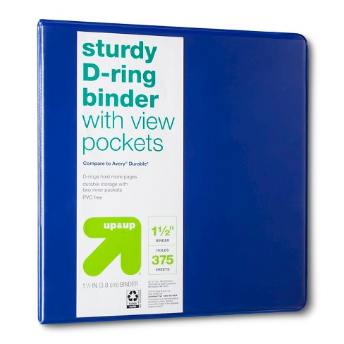 "1.5"" 3 Ring Binder Clear View - Up&Up™ - image 1 of 2"