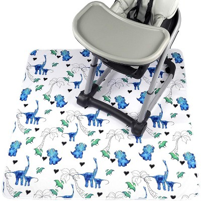 """JumpOff Jo - Splat Mat - Waterproof and Washable, for Booster Seat, Tabletop, Carpet - Protection from Spills, Indoor-Outdoor - 51 x 51"""" - Dinosaur"""