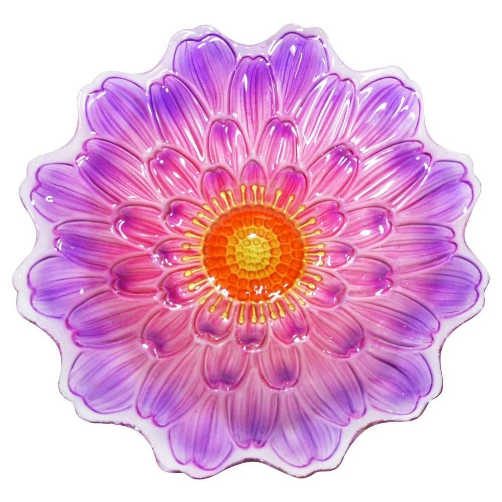 Alpine Corporation 18 Flower Birdbath - Purple