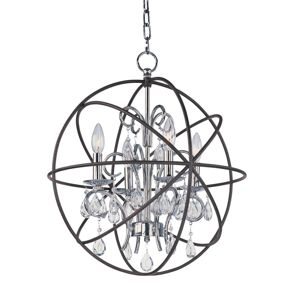 Image of Maxim Orbit 4-Light Pendant Bronze
