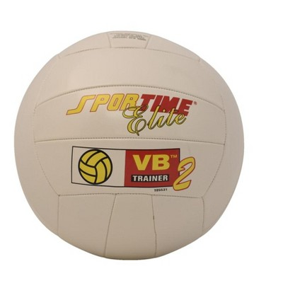 Sportime Elite Volleyball Trainer II, Regulation Size, Synthetic Leather, White