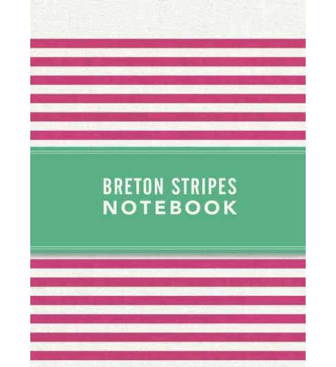 Breton Stripes Notebook - Hot Pink (Hardcover) - image 1 of 1