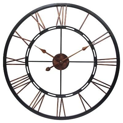 The Metal Fusion Wall Clock Black/Copper - Infinity Instruments®