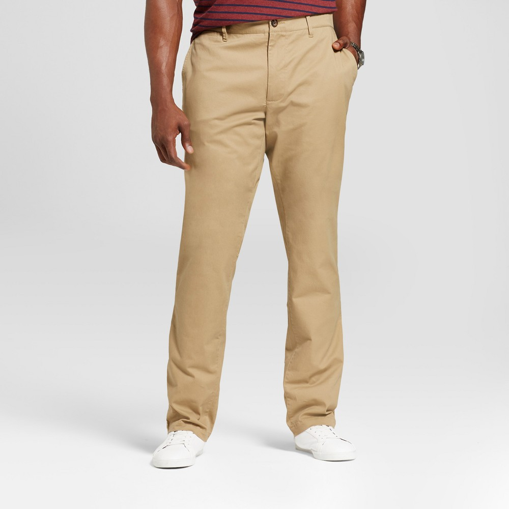 Men's Tall Athletic Fit Hennepin Chino Pants - Goodfellow & Co Tan 36X36