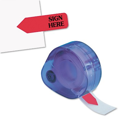 """Redi-Tag Arrow Message Page Flags in Dispenser """"Sign Here"""" Red 120 Flags/ Dispenser 81024"""