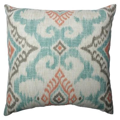 Gray Kantha Surf Throw Pillow (16.5x16.5 )16.5  x 16.5  - Pillow Perfect®