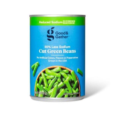 Reduced Sodium Cut Green Beans 14.5oz - Good & Gather™
