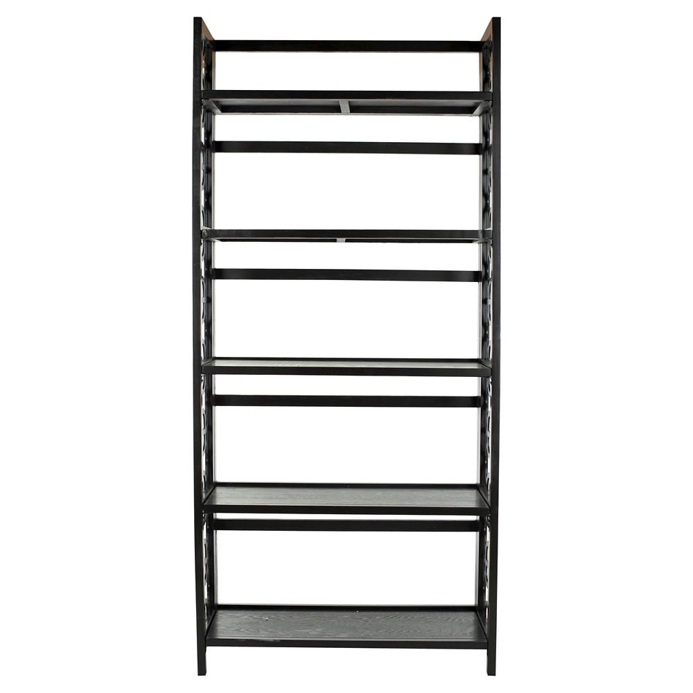 Natalie 73 Tall Bookcase Black - Safavieh