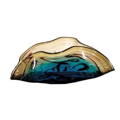 OK Lighting Glass Fruit Bowl