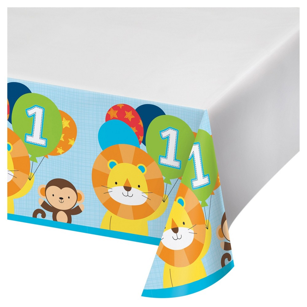 One is Fun Boy Plastic Tablecloth