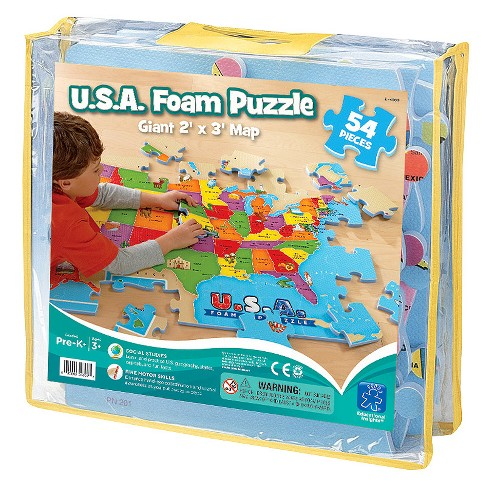 Educational Insights USA Foam Map Puzzle 54pc