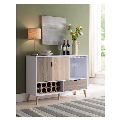 Hoff Contemporary Buffet Glossy White and Weathered Sand - HOMES: Inside + Out