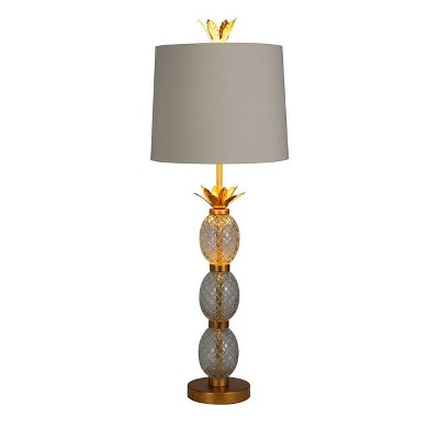 Stack Glass Pineapple Buffet Table Lamp (Includes LED Light Bulb) Gold - Opalhouse™