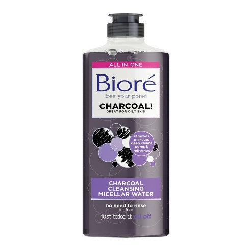 Biore Charcoal Cleansing Micellar Water Facial Cleanser - 10 fl oz - image 1 of 2