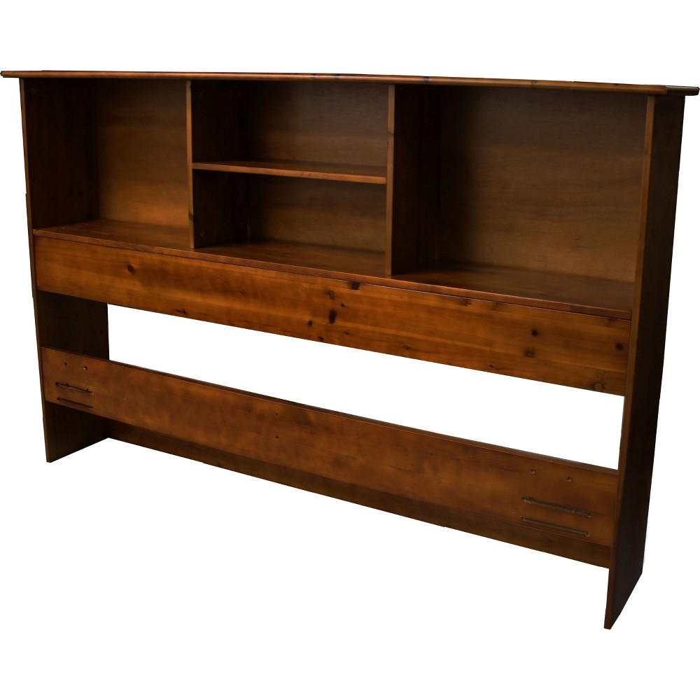 Image of Gibraltar Solid Bamboo Wood Bookcase Style Headboard - Epic Furnishings, Size: Twin, Brown Finish