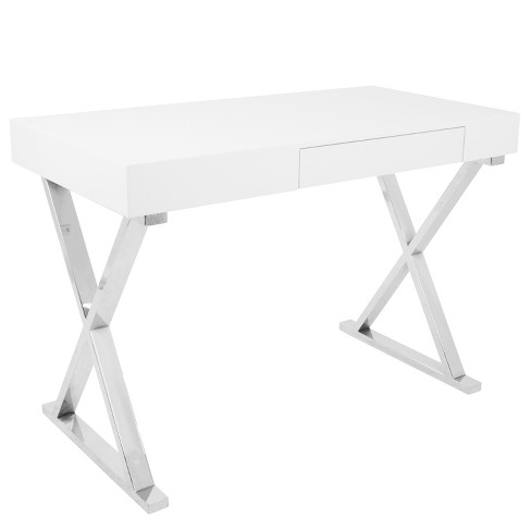Luster Contemporary Desk White - LumiSource - image 1 of 4