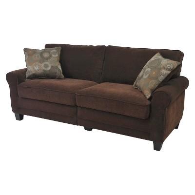 Serta® RTA Copenhagen Collection 73  Sofa in Rye Brown, CR43537PB