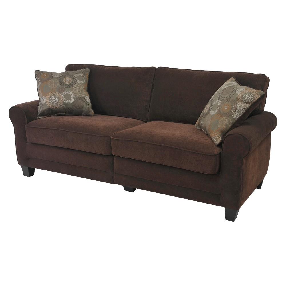 Serta Rta Copenhagen Collection 73 Sofa in Rye Brown, CR43537PB