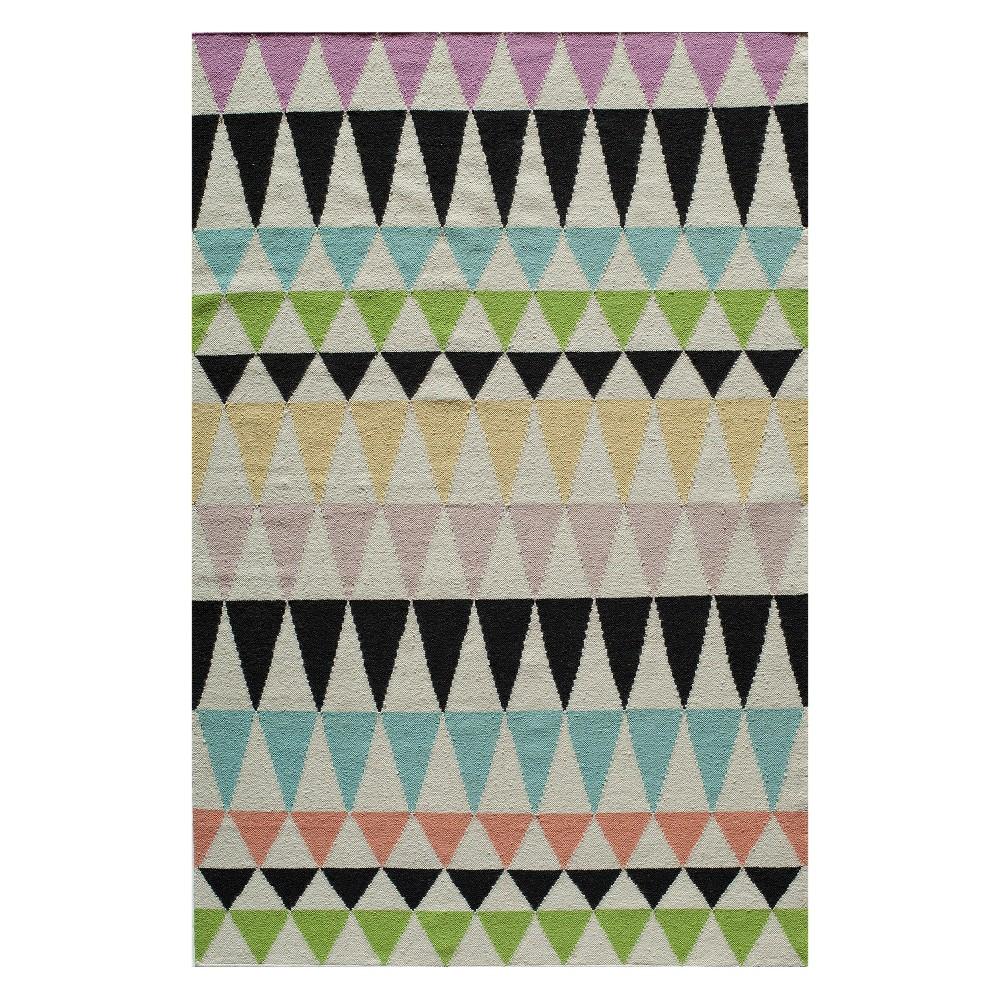 5'X8' Geometric Woven Area Rug - Momeni, Multi-Colored