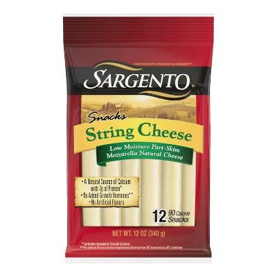 Sargento Natural Mozzarella String Cheese - 12ct