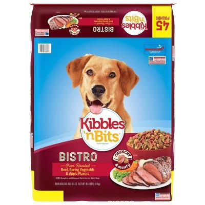 Kibbles`'n Bits Bistro Oven Roasted Beef Flavor Dry Dog Food - 45lbs