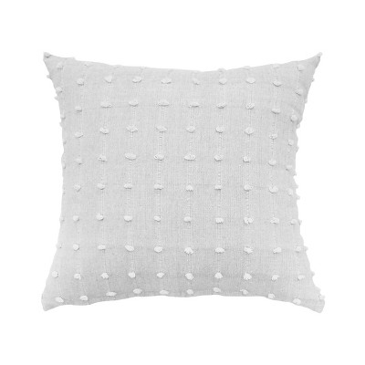 Indochine Tufting Embellishment Throw Pillow White - Beautyrest