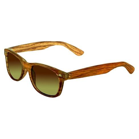 b9af707f5bd66 Women s Surf Sunglasses With Wood Grain Print - Brown   Target