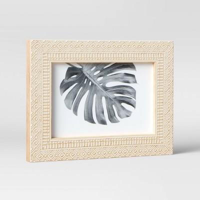 "4"" x 6"" Global Diamond Table Frame Natural/White - Opalhouse™"
