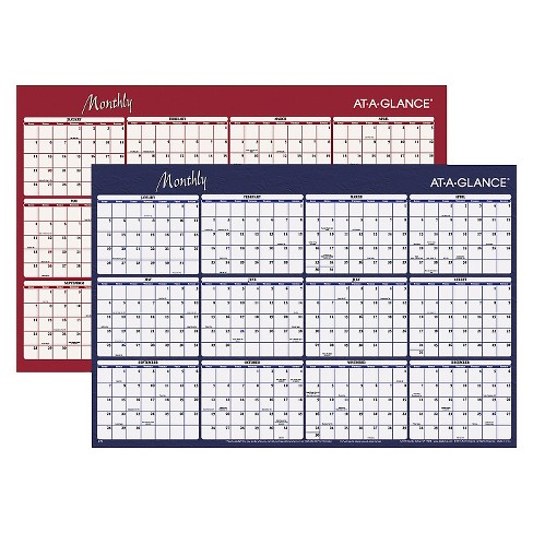 AT-A-GLANCE® Reversible Horizontal Erasable Wall Planner 48 x 32 2018 - image 1 of 1