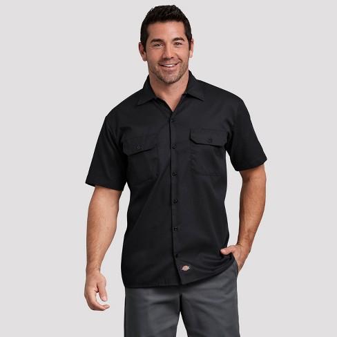 Big Men/'S Short Sleeve Twill Work Shirt