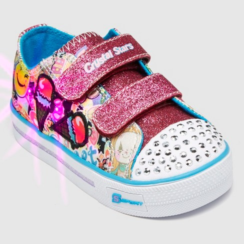 34a27e358c3f Toddler Girls  S Sport By Skechers Glimmer Stars Light Up Sneakers ...