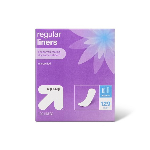 Panty Liners - Regular Absorbency - 129ct - up & up™ - image 1 of 3