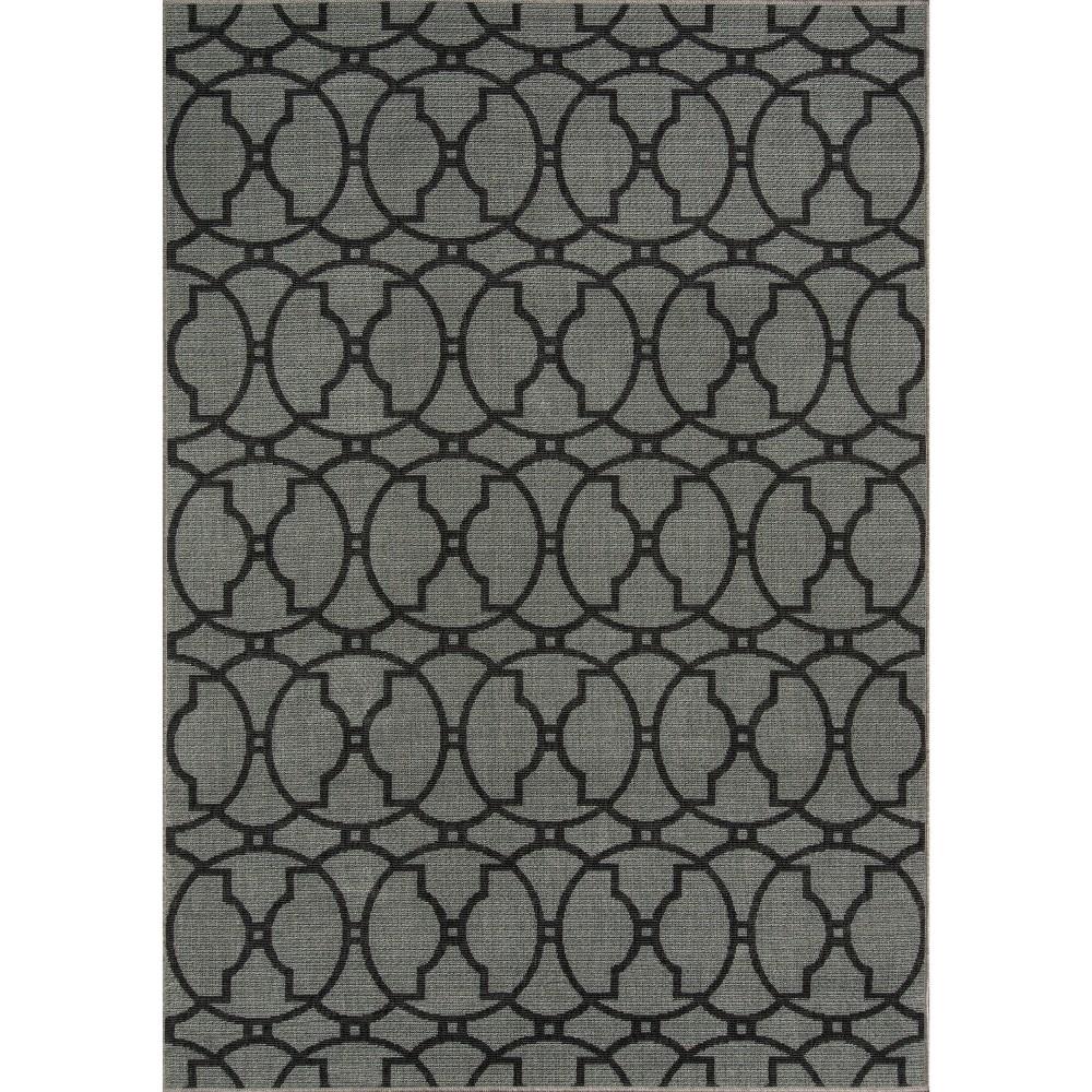 Rich Charcoal (Grey) Indoor/Outdoor Calypso Area Rug 5'3