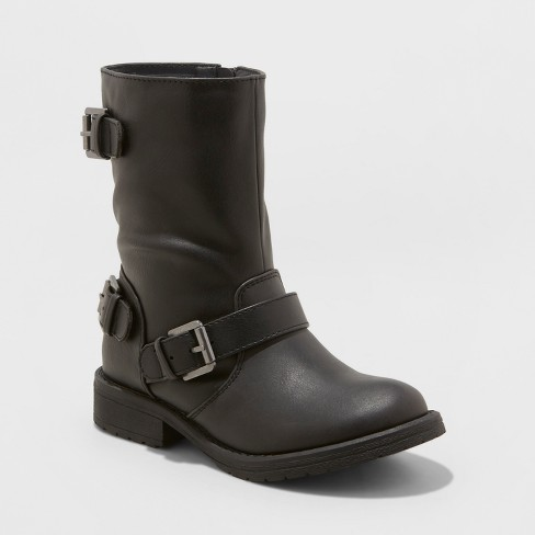 Girls' Stevies #ROCKOUT Moto boots - Black - image 1 of 3