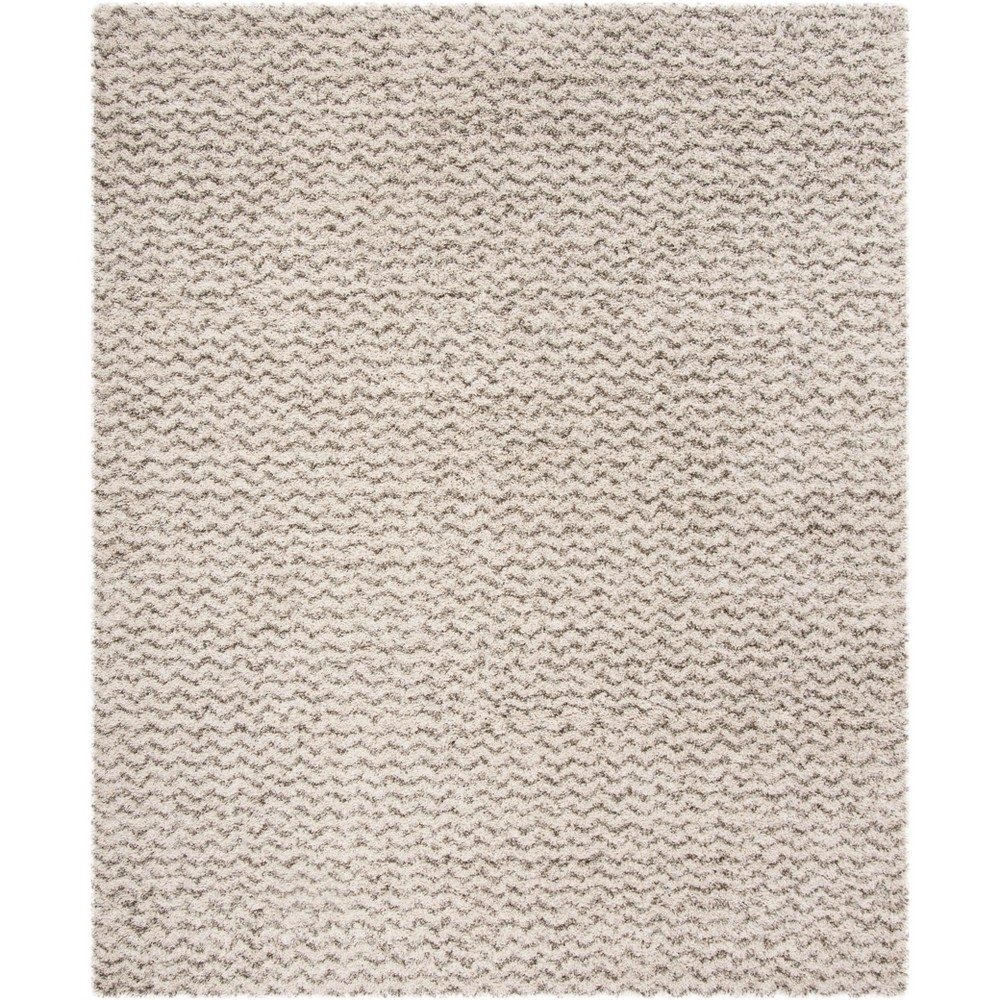 8'X10' Solid Loomed Area Rug Ivory/Gray - Safavieh, White
