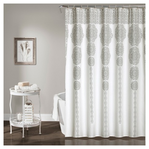 Stripe Medallion Shower Curtain - Lush Decors® - image 1 of 1