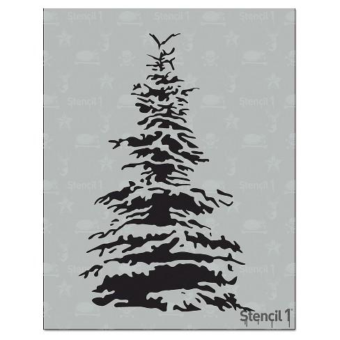 "Stencil1 Snowy Pine - Stencil 8.5"" x 11"" - image 1 of 3"