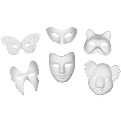 Creativity Street Classroom Paperboard Masks, White, pk of 24