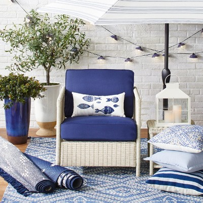Classic Blues and Whites Outdoor Décor Collection - Classic Blues And Whites Outdoor Décor... : Target