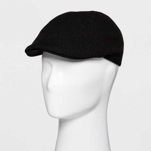 Men s 6 Panel Ivy Driving Cap - Goodfellow   Co™ Black One Size   Target 1000eda60db