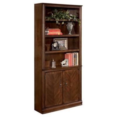 "75.13"" Large Hamlyn Door Bookshelf Medium Brown - Signature Design by Ashley"