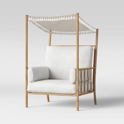 Calla Canopy Patio Accent Chair - White - Opalhouse™